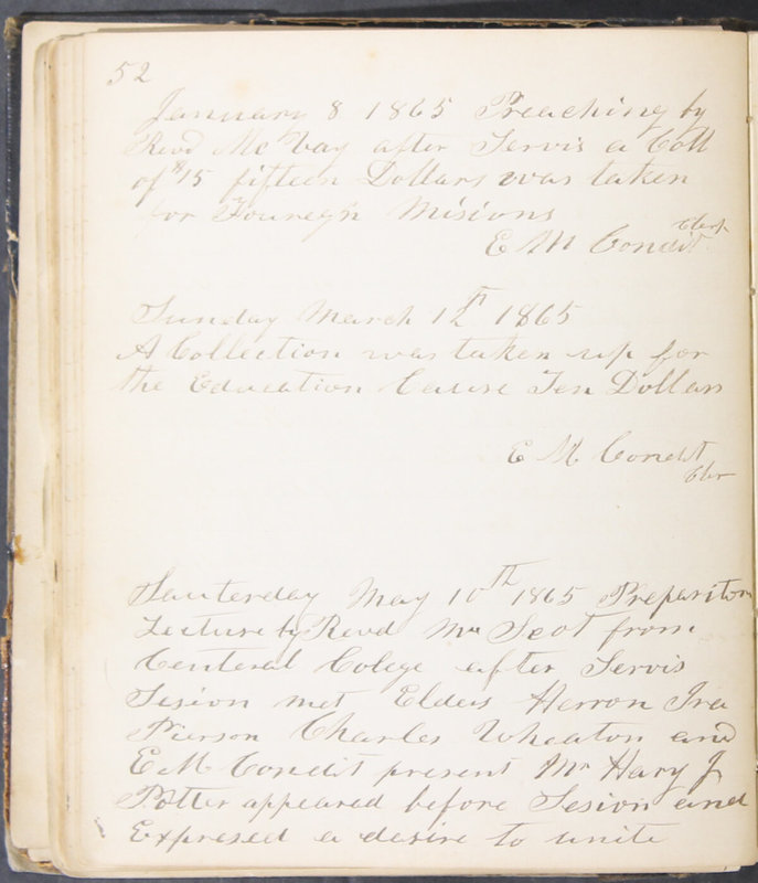 Sessional Records of the 1st Presbyterian Church of Trenton, Delaware Co., Ohio, 1831 (p. 58)