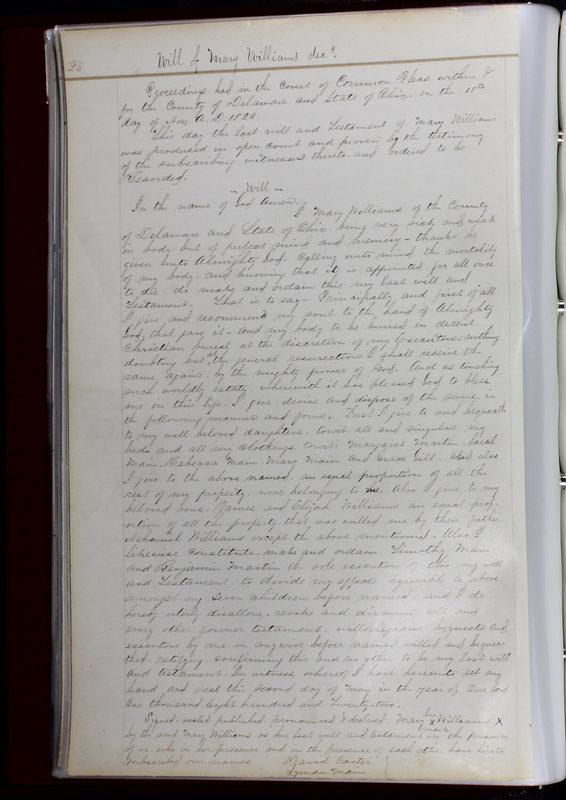 Delaware County Ohio Will Records Vol. 1 1812-1835 (p. 58)