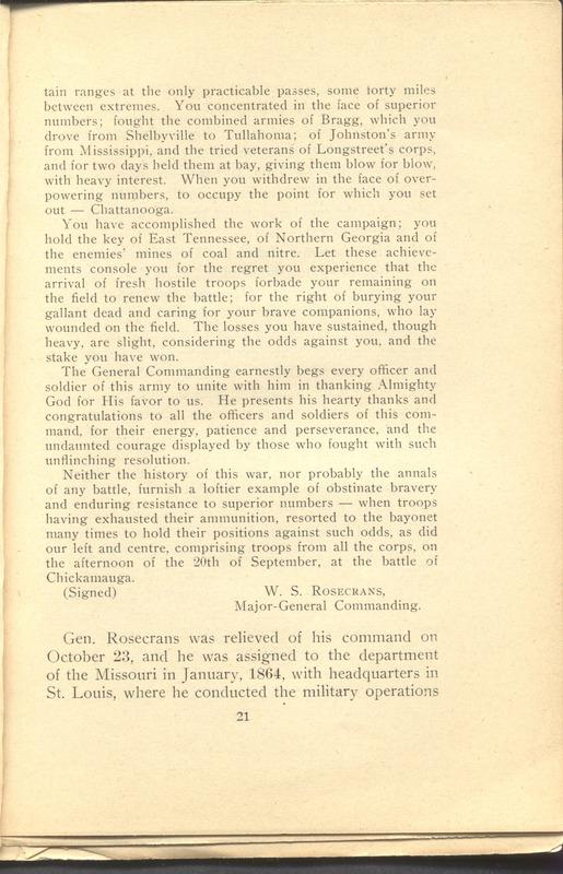 Major-General William Stark Rosecrans (p. 25)