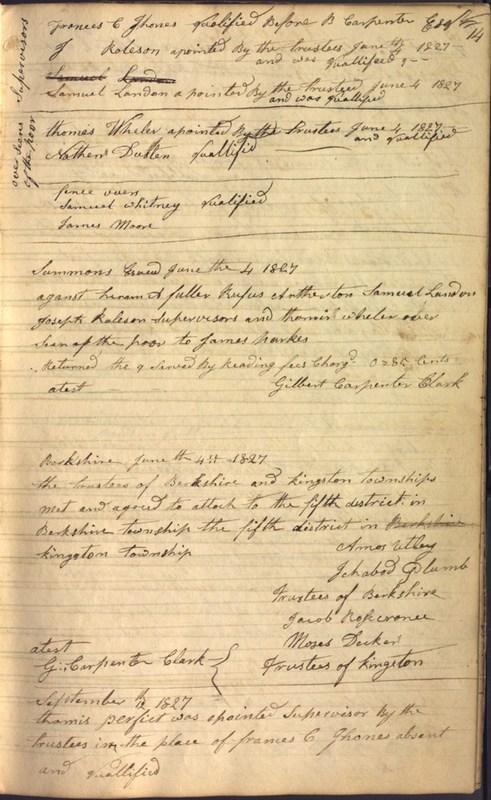 Record Book of Berkshire Township No. 2 1807-1843 (p. 27)