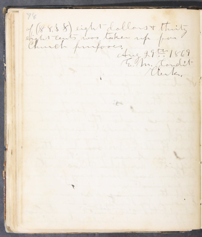 Sessional Records of the 1st Presbyterian Church of Trenton, Delaware Co., Ohio, 1831 (p. 84)