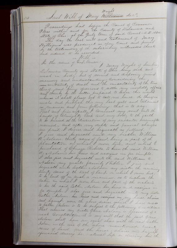 Delaware County Ohio Will Records Vol. 1 1812-1835 (p. 86)