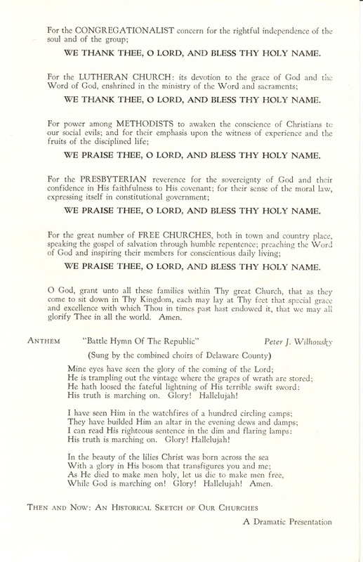 Religious Heritage Program of the Sesquicentennial Celebration of the County of Delaware, Ohio (p. 3)