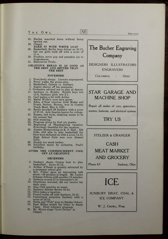 The Owl, Vol. II, 1922 (p.59)