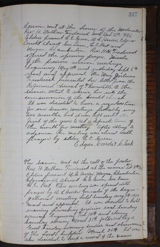 Sessional Records of the 1st Presbyterian Church of Trenton Delaware County Ohio 1873-1937 (p. 304)