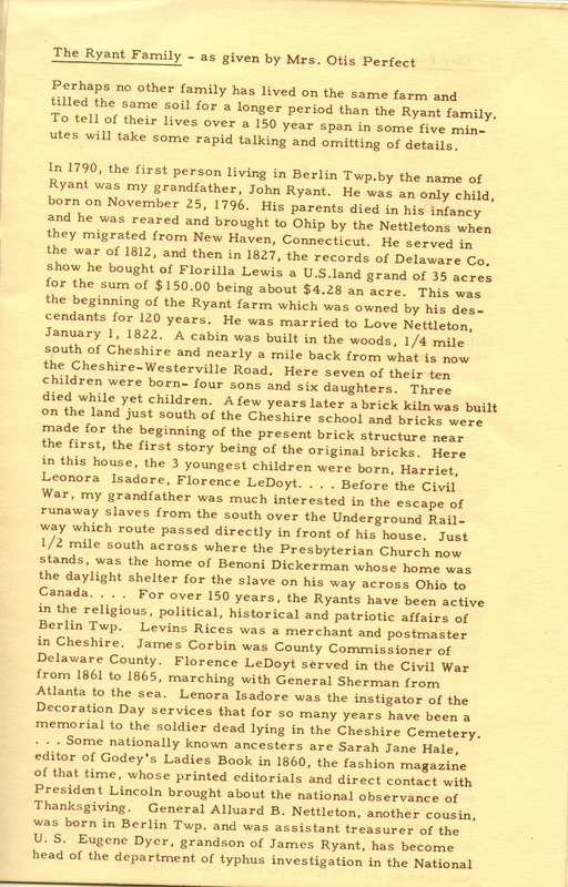 Berlin Township Program of the Delaware County Historical Society (p. 7)