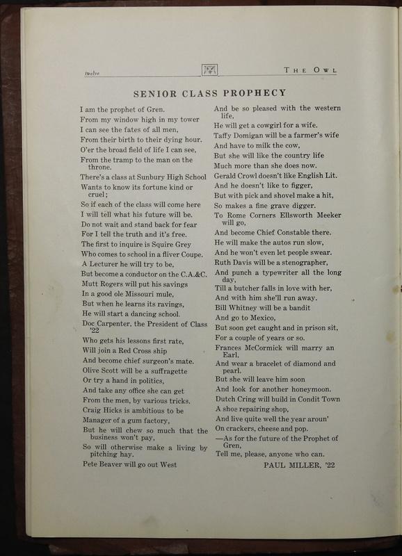 The Owl, Vol. II, 1922 (p.14)