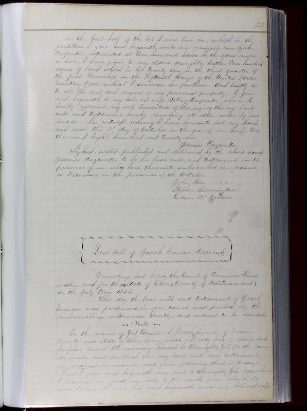 Delaware County Ohio Will Records Vol. 1 1812-1835 (p. 55)
