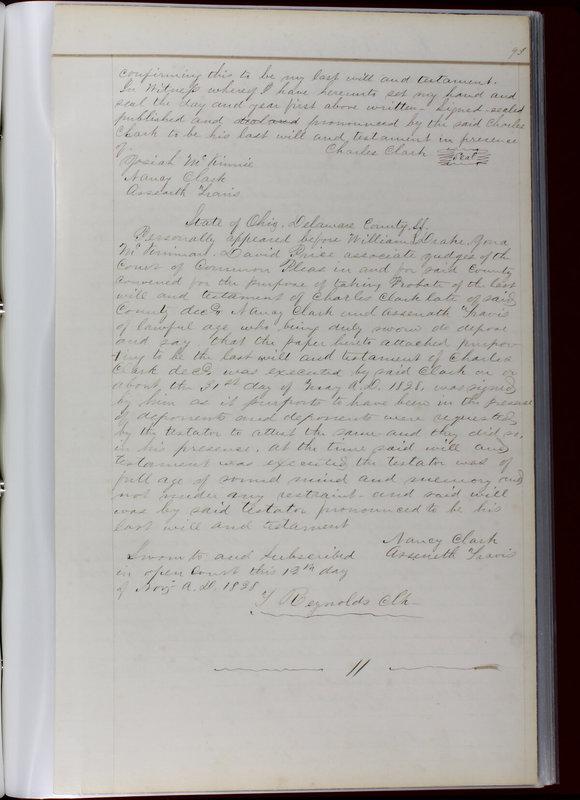 Delaware County Ohio Will Records Vol. 1 1812-1835 (p. 125)