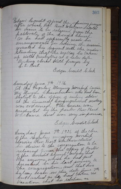 Sessional Records of the 1st Presbyterian Church of Trenton Delaware County Ohio 1873-1937 (p. 290)