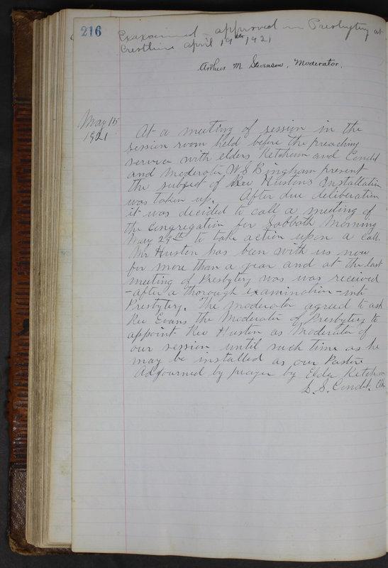 Sessional Records of the 1st Presbyterian Church of Trenton Delaware County Ohio 1873-1937 (p. 204)