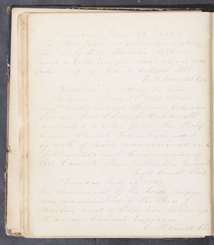 Sessional Records of the 1st Presbyterian Church of Trenton, Delaware Co., Ohio, 1831 (p. 50)