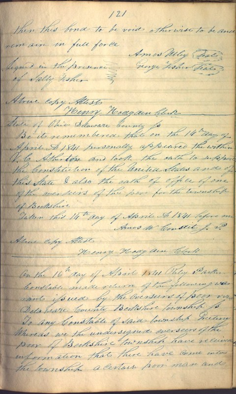 Record Book of Berkshire Township No. 2 1807-1843 (p. 135)