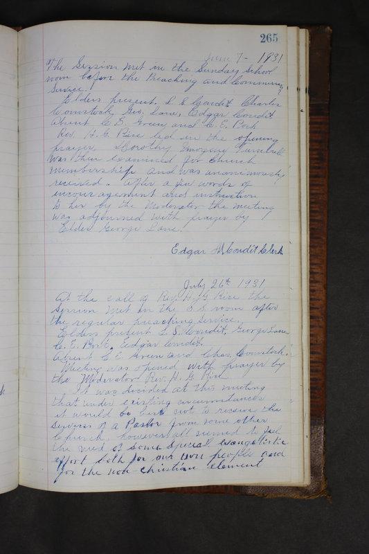 Sessional Records of the 1st Presbyterian Church of Trenton Delaware County Ohio 1873-1937 (p. 252)