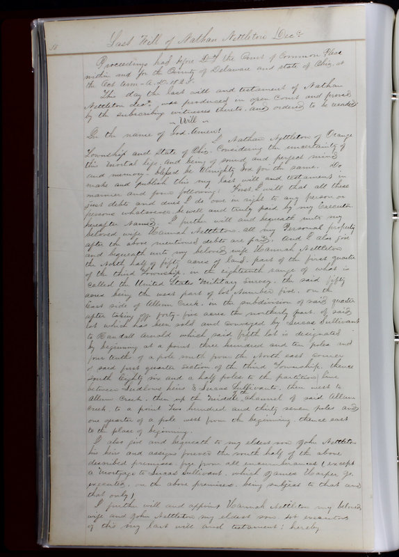Delaware County Ohio Will Records Vol. 1 1812-1835 (p. 70)