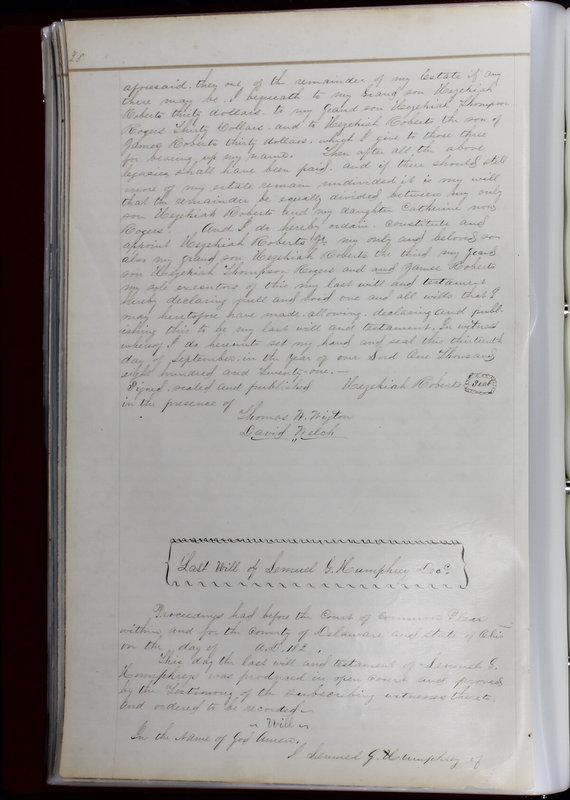 Delaware County Ohio Will Records Vol. 1 1812-1835 (p. 60)