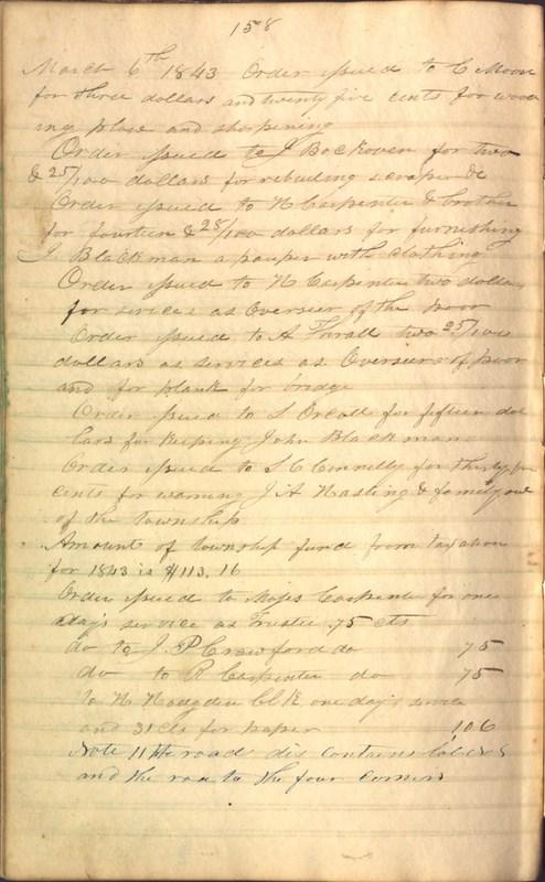 Record Book of Berkshire Township No. 2 1807-1843 (p. 172)