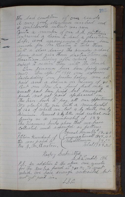 Sessional Records of the 1st Presbyterian Church of Trenton Delaware County Ohio 1873-1937 (p. 203)