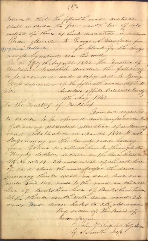 Record Book of Berkshire Township No. 2 1807-1843 (p. 166)