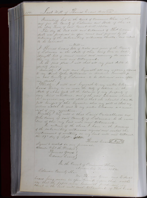 Delaware County Ohio Will Records Vol. 1 1812-1835 (p. 166)