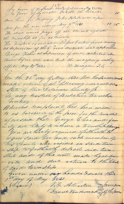 Record Book of Berkshire Township No. 2 1807-1843 (p. 142)