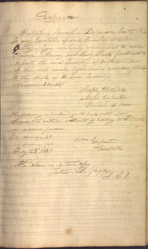 Record Book of Berkshire Township No. 2 1807-1843 (p. 89)