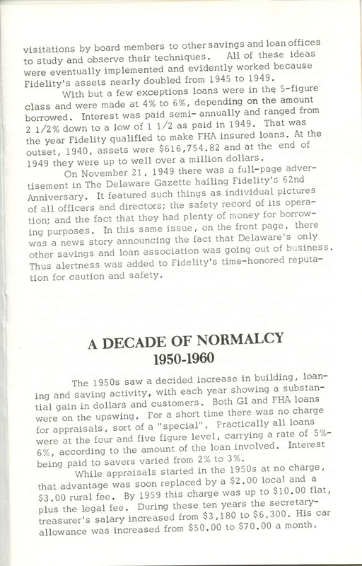 Fidelity Federal Savings and Loan Association 100 Years (p. 14)