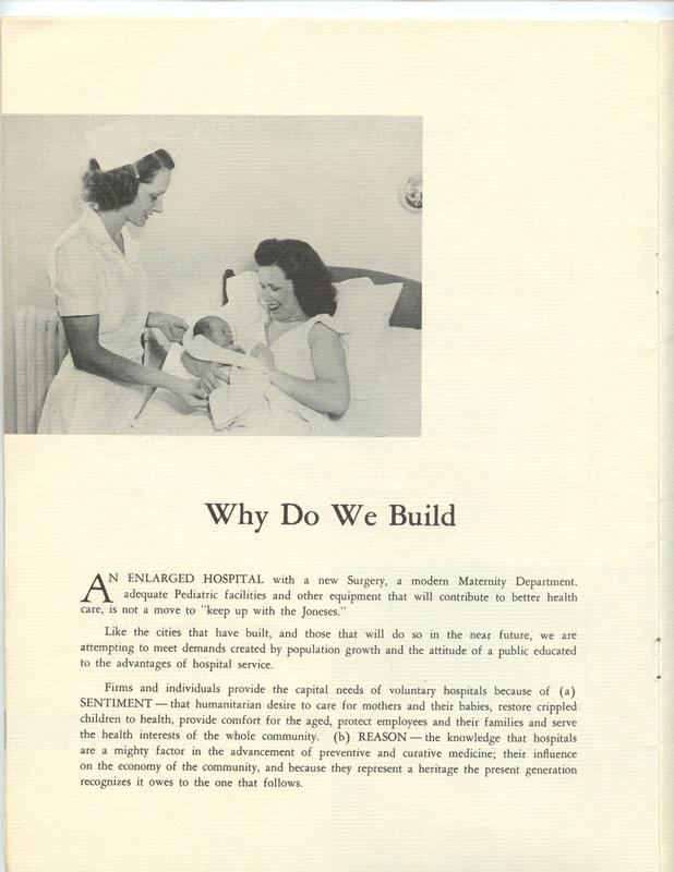 The Jane M. Case Hospital Building Campaign (p. 8)