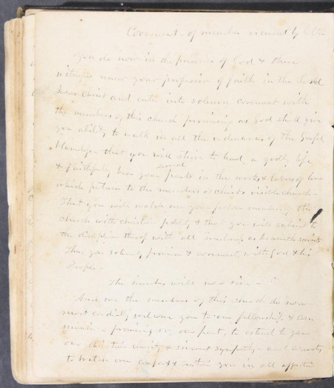 Sessional Records of the 1st Presbyterian Church of Trenton, Delaware Co., Ohio, 1831 (p. 131)