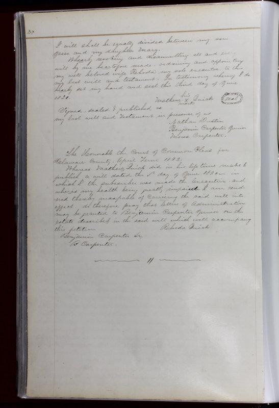 Delaware County Ohio Will Records Vol. 1 1812-1835 (p. 72)
