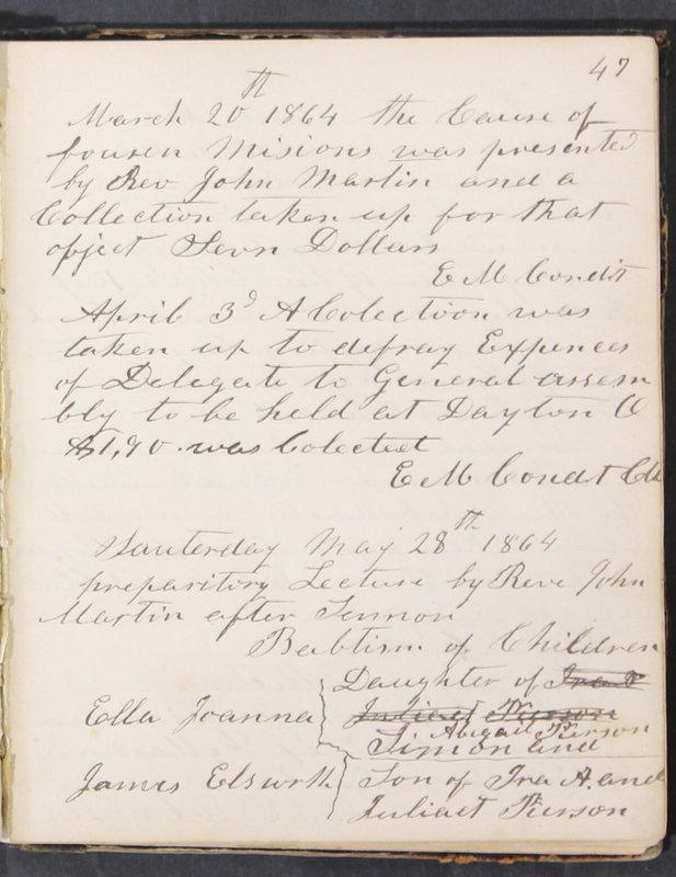 Sessional Records of the 1st Presbyterian Church of Trenton, Delaware Co., Ohio, 1831 (p. 53)