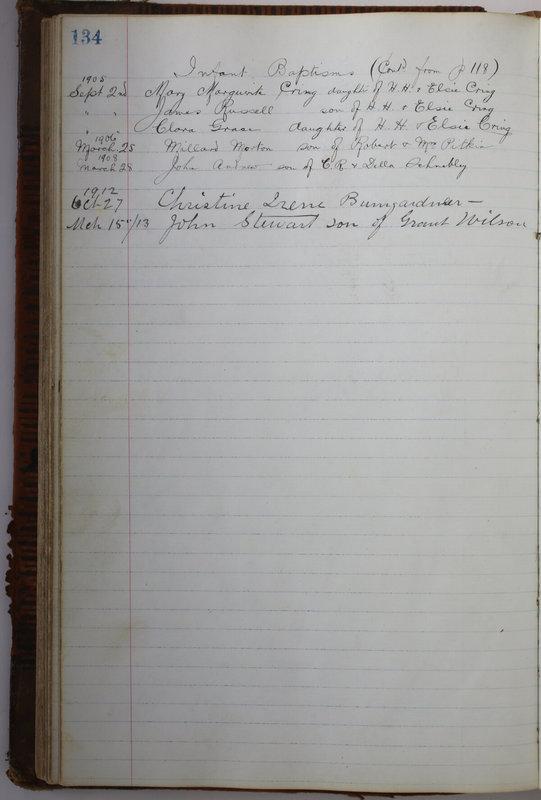 Sessional Records of the 1st Presbyterian Church of Trenton Delaware County Ohio 1873-1937 (p. 126)