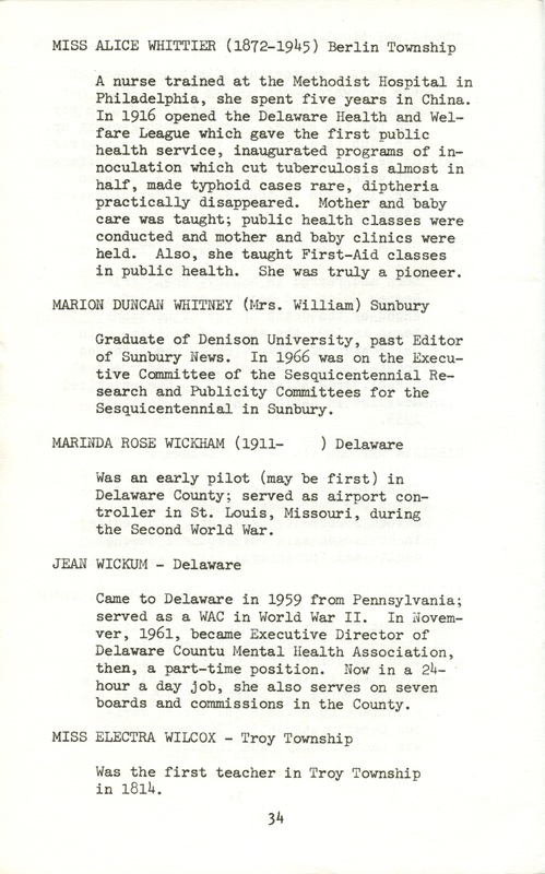 Some Delaware County Women Past and Present (p. 39)