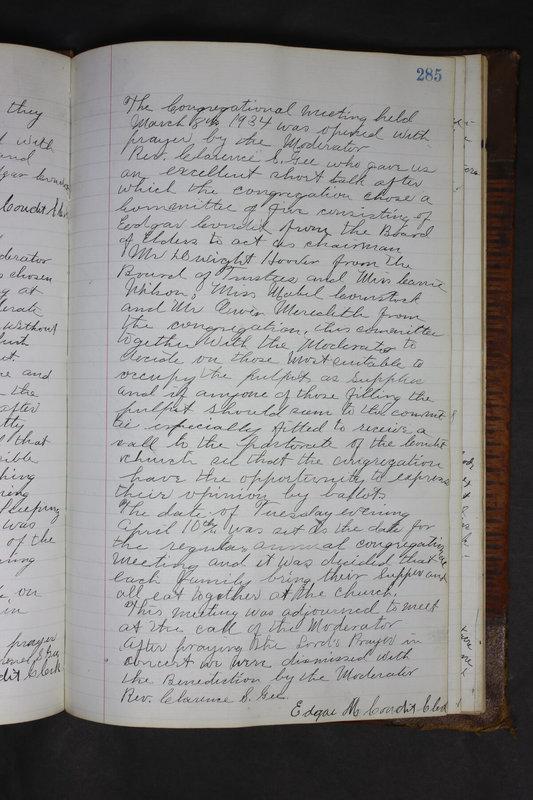 Sessional Records of the 1st Presbyterian Church of Trenton Delaware County Ohio 1873-1937 (p. 272)