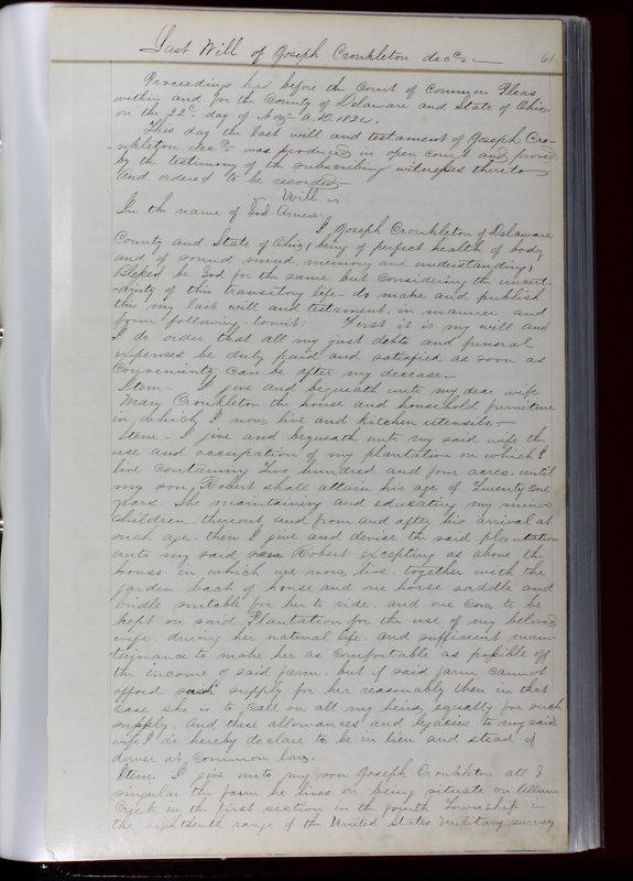 Delaware County Ohio Will Records Vol. 1 1812-1835 (p. 93)