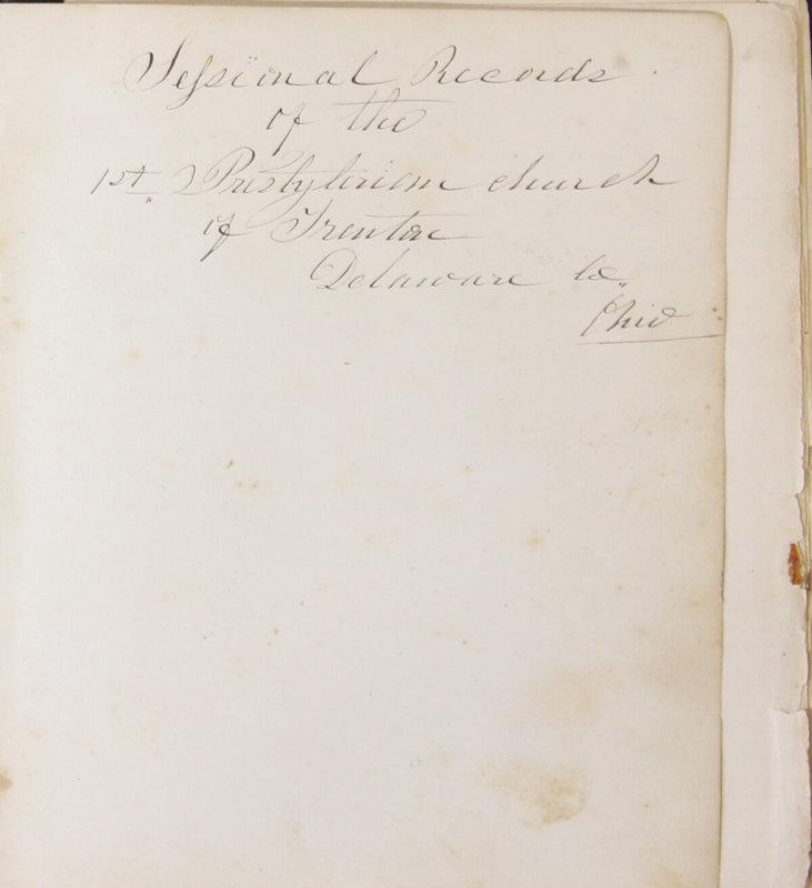 Sessional Records of the 1st Presbyterian Church of Trenton, Delaware Co., Ohio, 1831 (p. 5)