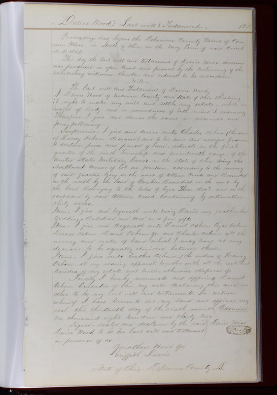 Delaware County Ohio Will Records Vol. 1 1812-1835 (p. 157)