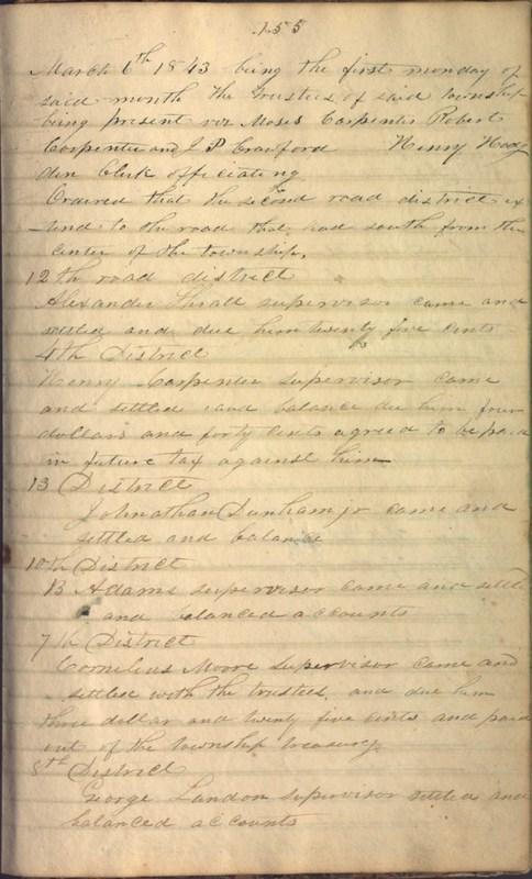 Record Book of Berkshire Township No. 2 1807-1843 (p. 169)