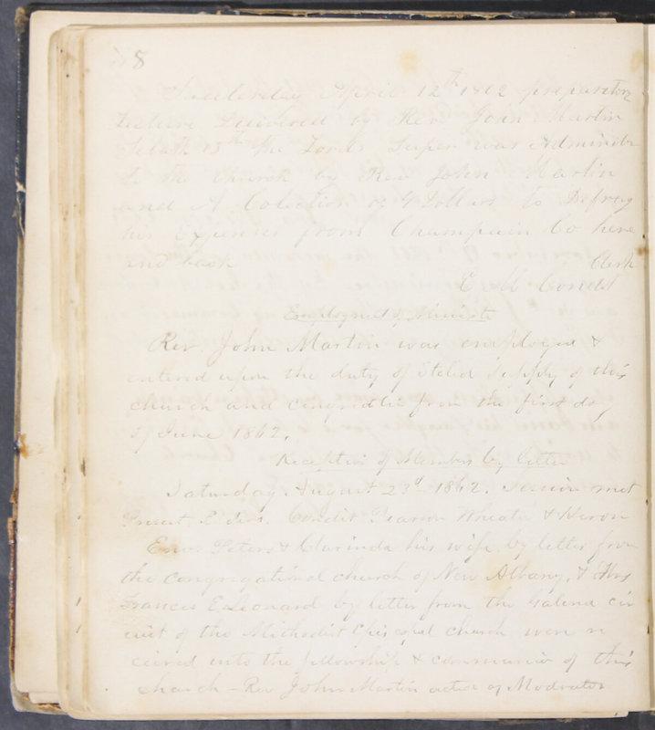 Sessional Records of the 1st Presbyterian Church of Trenton, Delaware Co., Ohio, 1831 (p. 44)