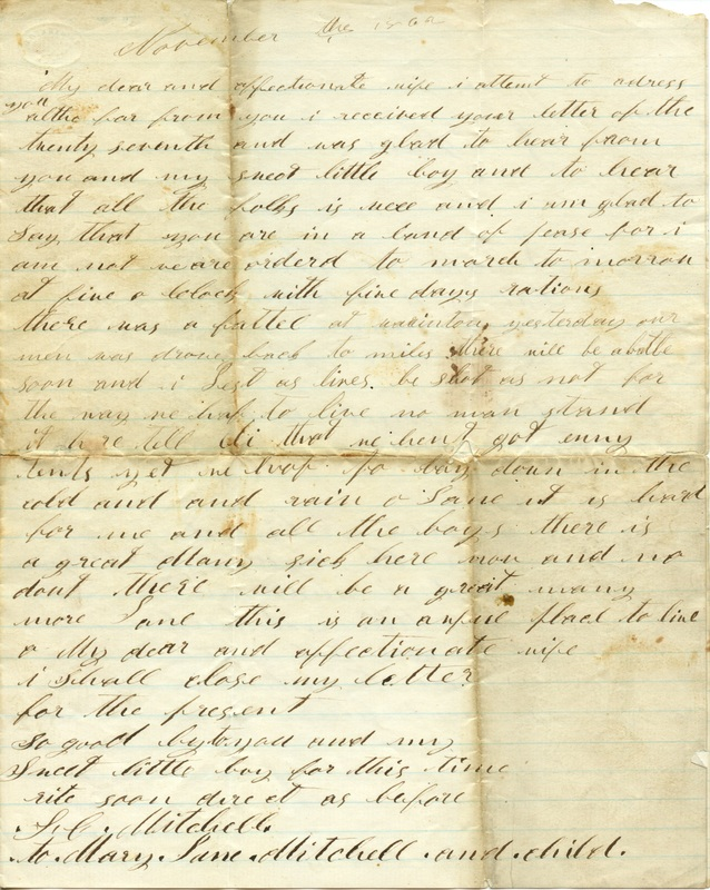 Mitchell Family Civil War Letters (p. 14)