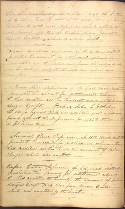 Record Book of Berkshire Township No. 2 1807-1843 (p. 104)