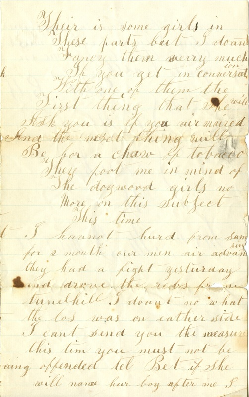 Mitchell Family Civil War Letters (p. 53)