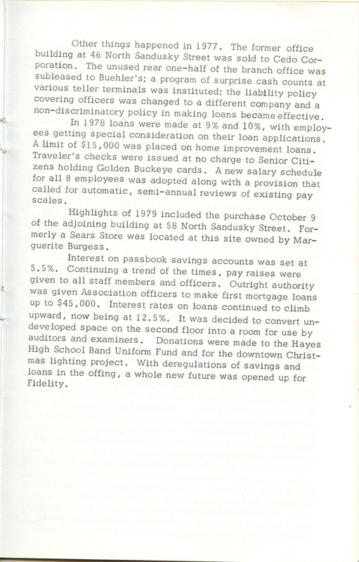 Fidelity Federal Savings and Loan Association 100 Years (p. 22)