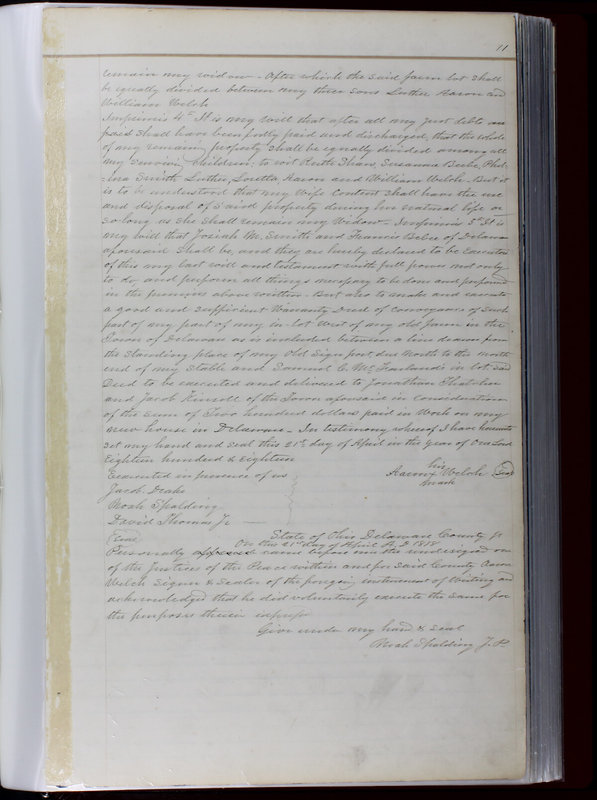 Delaware County Ohio Will Records Vol. 1 1812-1835 (p. 43)