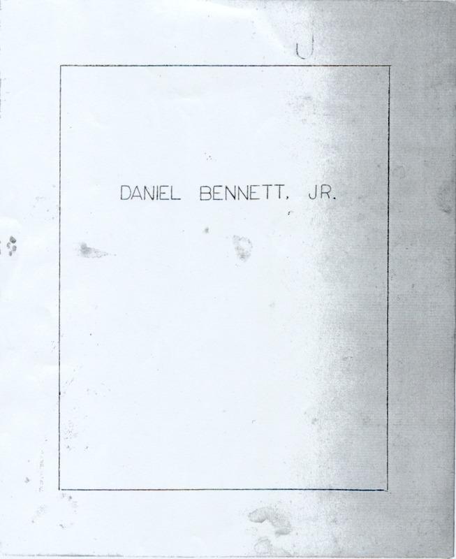 Daniel Bennett, Jr. (p. 1)