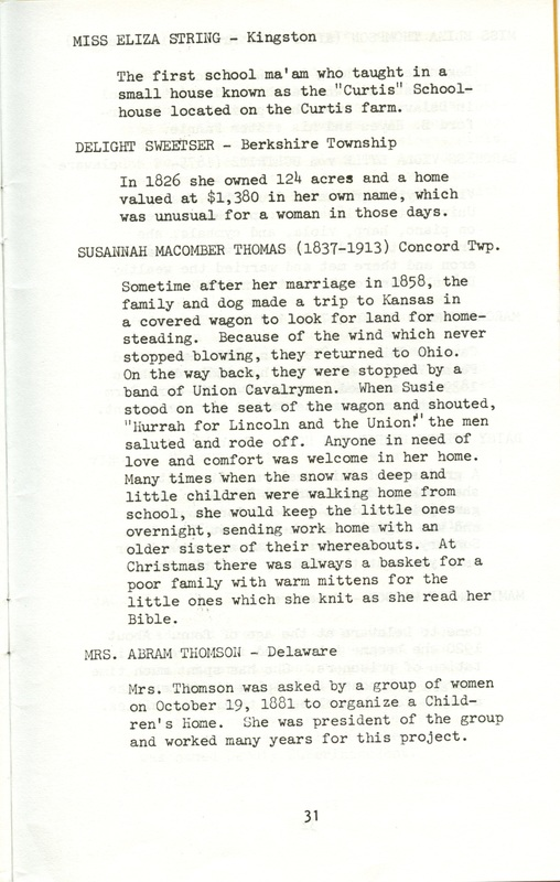 Some Delaware County Women Past and Present (p. 36)
