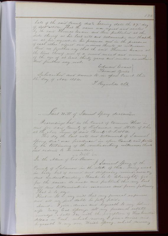 Delaware County Ohio Will Records Vol. 1 1812-1835 (p. 167)