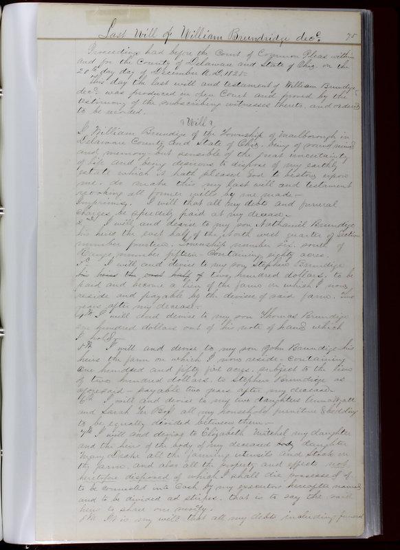 Delaware County Ohio Will Records Vol. 1 1812-1835 (p. 107)