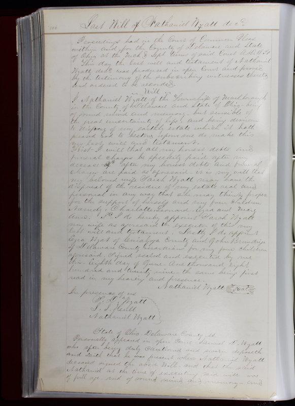 Delaware County Ohio Will Records Vol. 1 1812-1835 (p. 138)