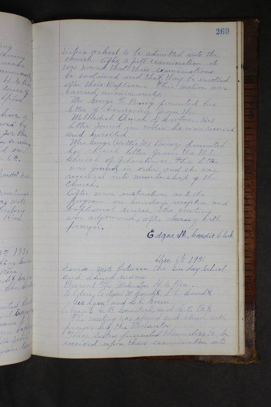 Sessional Records of the 1st Presbyterian Church of Trenton Delaware County Ohio 1873-1937 (p. 256)